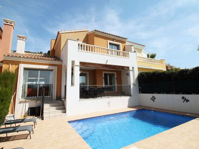 Photo for Luxury Front Row 3 Bedroom Villa, Private Pool, AC, Great Views of Golf Course.