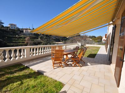 Photo for 8minutes from the sea - APARTMENT WITH GARDEN AND LARGE TERRASSETERRASSE