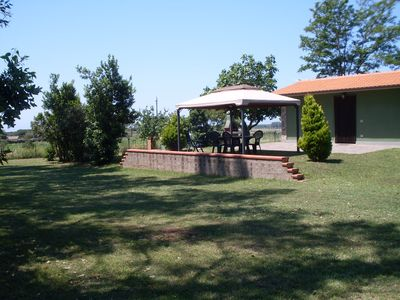 Photo for New house with a large garden 1km from the sea, great location!