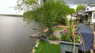 Photo for Waterfront House  - 2 BR, huge deck, gorgeous views, Lake Lashaway E. Brookfield