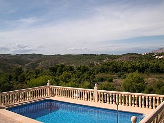View of Montgo mountain from pool