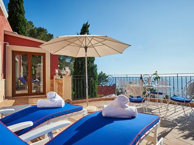 Photo for Cozy apartment on Mallorca with a large private terrace and sea views