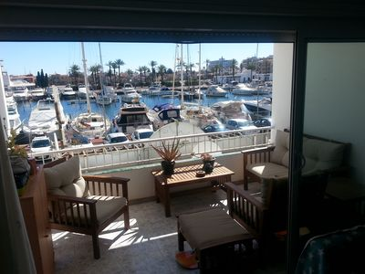 Photo for BIG STUDIO FACING THE MAIN CHANNEL OF EMPURIABRAVA WITH TERRACE