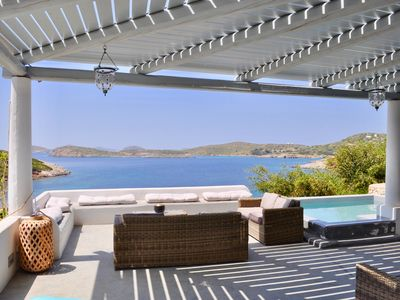 Photo for Lipsi: magnificent 7 bedroom villa - private beach and stunning views