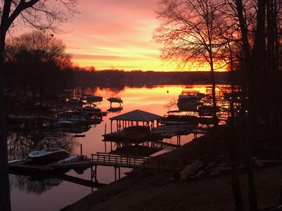 Photo for Waterfront Home on lake norman, kayaks, paddle boards & tree swing into lake!!
