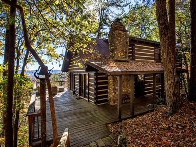 Photo for Rustic Luxury Cabin with Waterfalls