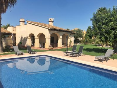 Photo for Luxury 3 bedroom villa with private pool, 1ª line golf