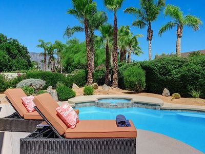 Photo for Relax in Rancho Mirage 4BD Private Pool & Spa with Beautiful Mountain Views