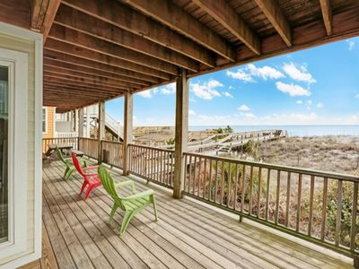 Photo for Premium Condo w/ Large Oceanfront Deck, Dog Friendly, Beach Access