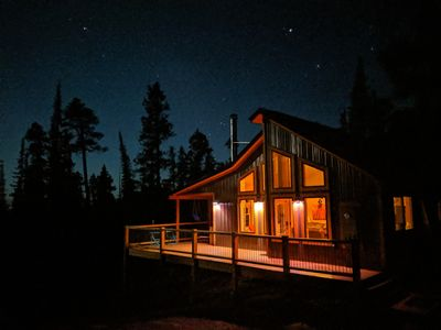Photo for Modern Cabin on 41 Private Acres of Spruce and Pine Forest