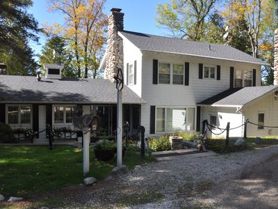 Photo for Secluded,private and charming Home and Guest House w/Pool on  400ft of Lakefront
