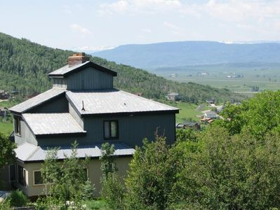 Summer views from the Royal Flush House of the Yampa Valley and Flat Tops