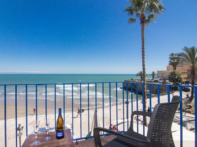 Photo for SUNBEAM Romantic beach front apartment in Sitges.