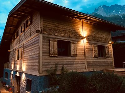 Photo for Beautiful 6 bedroom chalet with Mont Blanc views, outdoor sauna and Jacuzzi