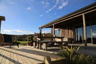 Stunning Sea and Valley view from the deck. Perfect for alfresco dining.