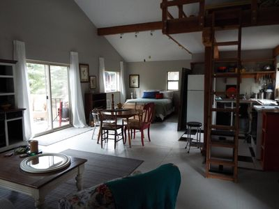 Photo for Bright open and airy studio with loft behind the creeks.