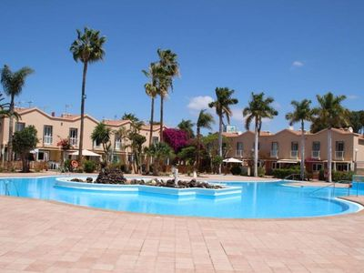 Photo for Green Oasis Duplex Bungalow apartment in Maspalomas with WiFi, private terrace & shared garden.