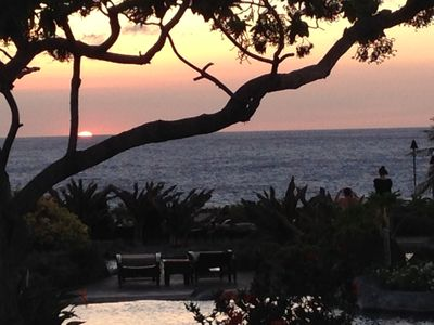 Sunset from the pool and Ocean Club