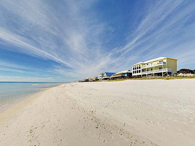 Photo for Gulf-Front Serenity on the Shore: 5BR w/ Private Boardwalk & Outdoor Shower