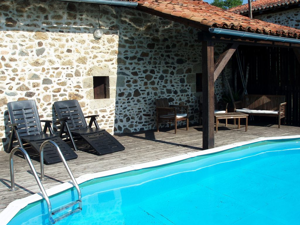 Large detached stone farmhouse with swimming pool x 3 for Farmhouse with swimming pool