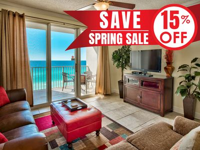 Photo for 15% OFF Now-5/25/19! BEACH View @ Resort! Pool~2 Hotubs~Gym + FREE VIP Perks!