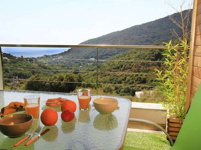 Photo for Ribellinu 1 Rdc Villa view stunning sea mountain