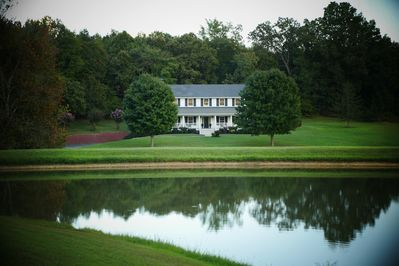 Our 7 acre estate has a gorgeous 1.5 Acre spring-fed Lake we call Willow Pond...