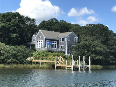 Photo for Magnificent home with water views and dock giving access to Nantucket Sound.