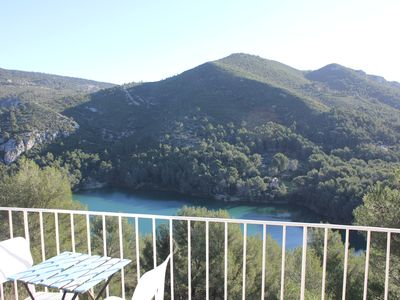 Photo for House (F6) Provencal village, 15min from the beach, quiet, incomparable view of lake
