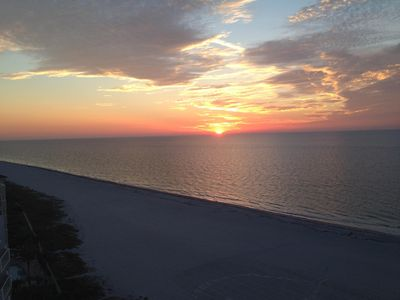 Romantic sunsets from your gulf facing balcony.