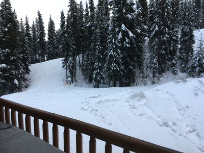 View from deck of stray horse ski trail