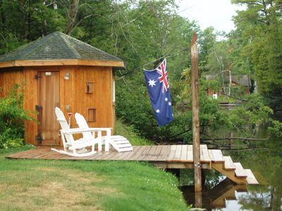 Relax with a sauna by the river!