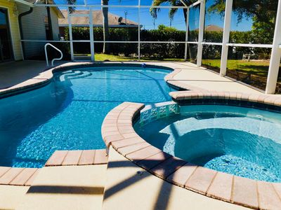 Photo for Introducing Tropicana Beach! 3 Bed 2 Bath HEATED Pool Home with built in Spa!