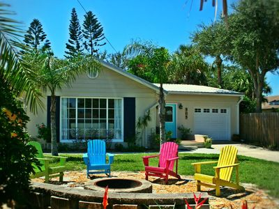 "Photo for ""Isle Be Back"" 1940's Coastal Cottage w/ fabulous outdoor space-Walk to Flagler & Beach, Slps 6"