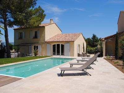 Photo for Villa 4 bedrooms, 2 bathrooms, private heated pool, golf course