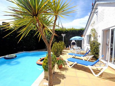 Photo for Attractive bungalow with private pool near Tenby
