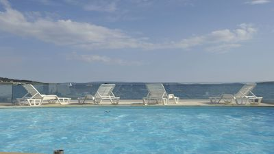 Photo for Split-Trogir, heated pool, private beach, most beautiful sea view on Adriatic