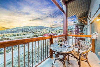 Private Balcony to take in the views and fresh mountain air
