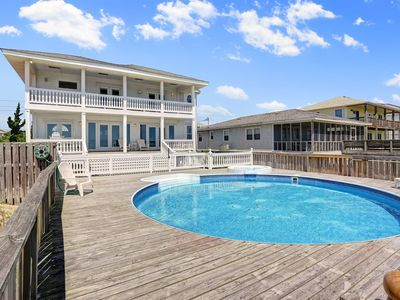 Photo for Stunning Spacious Oceanfront Kure Beach Home with Private Pool