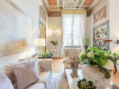 Photo for Romantic LUCCA apartment With View Over a Church