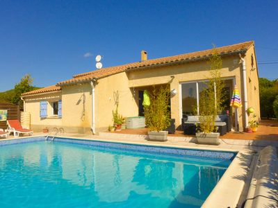 Photo for Nice recent house classified 3* private pool in quiet village
