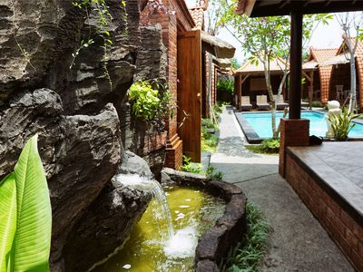 Photo for Unique and Classic Wooden House in South of Jimbaran, direct pool access