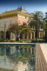 Photo for Luxury Villa near Sitges Barcelona  with Large  Pool, Tennis Court, BBQ area....
