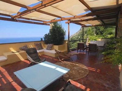 Photo for Beautiful villa overlooking the sea in the Maremma National Park