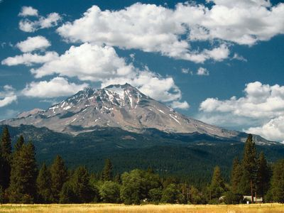 Mt Shasta - view from Golf Course south of McCloud.