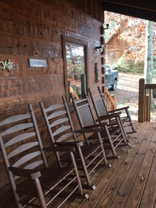 Four new rockers to relax in while enjoying the view of Pigeon Forge.