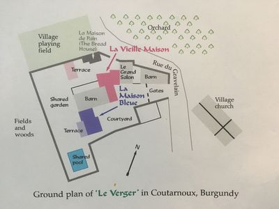 Ground plan of Le Verger