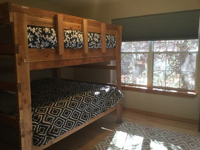 Custom made queen over queen bunk beds