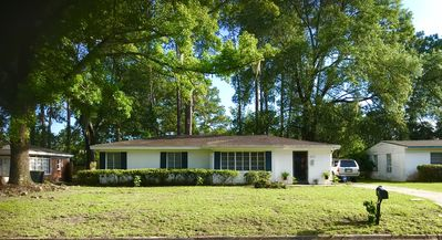 Photo for RUSTIC 3 BEDROOM, 1 FULL BATH RANCH STYLE HOME WITH HUGE BACKYARD 1950TIES STYLE