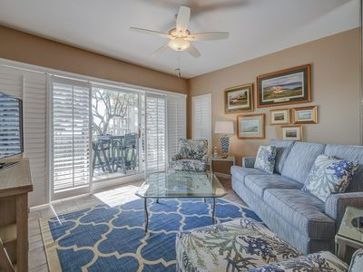 Photo for 215 Barrington - 2nd floor OCEANFRONT villa in Palmetto Dunes!